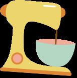 Mixer with dough