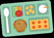 School lunch pizza